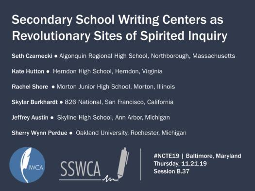 NCTE 2019 - Secondary Schools as Sites of Spirited Inquiry