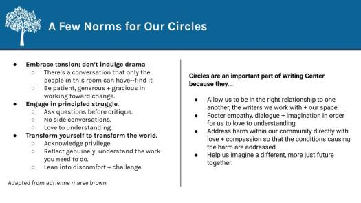 Summer Circle #1 - Norms_Questions_Reflections